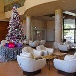 lobby met de kerstversiering
