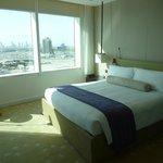 Junior Suite bedroom with view