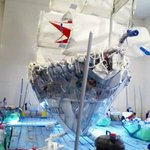 The Exploration Display on top level made from recyclable material.