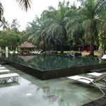 pool area at front of hotel