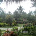 The view from the front of our bungalow