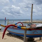 Sanur beach - local fisherman boats