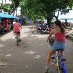 Hire a bike for $5 and ride along beach boardwalk or backstreets. loads of fun
