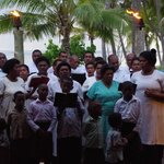 The local church choir serenading guests at the Sundowner