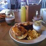 1st plate of breakfast