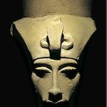 The Head from a Colossal Statue of Akhenaten -Luxor Museum