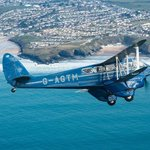 Pleasure Flying in the Rapide over Newquay bay