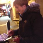 Pippin signing Playbills to fans!!