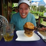 One big burger, one happy wife!