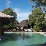 Swimmingpool with bar
