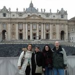 Vera Orabona, our guide & us outside of St Peters