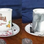 Amarula coffee served in an Amarula mug. Attention to detail.