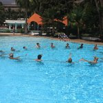 Aqua Aerobics in the Pool