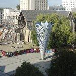 7階廊下からの崩壊した大聖堂です