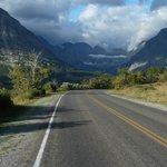 Drive into Many Glacier in Sept
