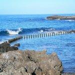 Piscinas naturales en el mar