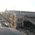 Vista do quarto, com a Gare do Nord em destaque