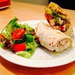 Chicken piri-piri wrap