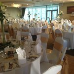 The function room, all dolled up