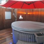 hot tub (but covered over)