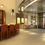 Restaurant & lounge with spectacular panoramic views of the Manhattan skyline