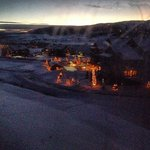 Lodge at night from the wild horse gondola.