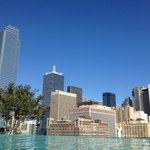 Dallas Skyline from Outdoor Pool Area