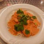 Shrimp with spiced masala & coconut milk