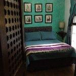 room with shuttered door