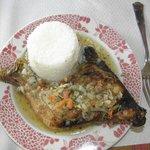 poulet boucané/riz