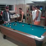 Guest playing Pool