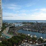 View of Ocean & Marina from Hotel Balcony
