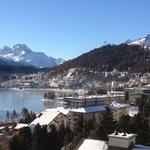 St. Moritz aus dem Hotelzimmer