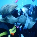 sharing a kiss with my fiance 50ft under water!