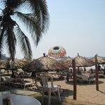 Overlooking the beach areaa