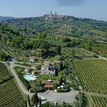 Guardastelle and San Gimignano from the sky!