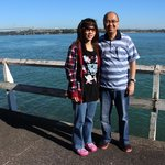 A good start at Viaduct Harbour with my wife