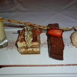The mouth watering dessert selection