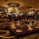 Inside Restaurant La Ola upstairs