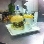 Sweet chill and chorizo steak burger