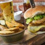 Peroni and a Burger at The Salty Dog, Bangor