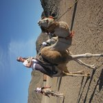 My first Camel ride with a smile