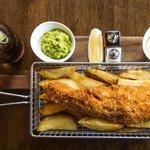 Fish and Chips at The Salty Dog, Bangor