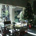 Cafetería con patio