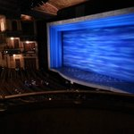 Visão do palco na platéia lateral superior