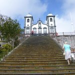 Steep steps up to the church of our Lady