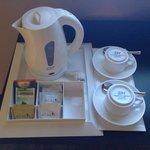 complimentary coffe and tea.