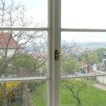 Vista da janela de um dos quartos no 2o. piso