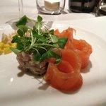 tartare maquereau/saumon
