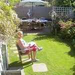 Lovely garden relax area